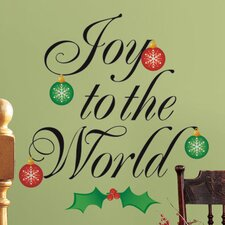 <strong>Room Mates</strong> Seasonal Joy to the World Wall Decal