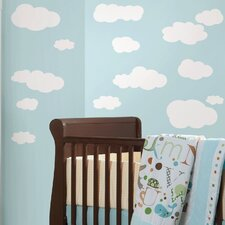 Room Mates Deco 19-Piece Clouds Wall Decal