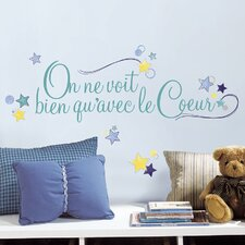 4 Piece Deco Le Coeur Peel and Stick Wall Decal Set