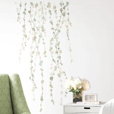 10 Piece Deco Hanging Vine Watercolor Peel and Stick Wall Decal Set