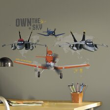 19 Piece Planes - Own The Sky Peel and Stick Giant Wall Decal Set