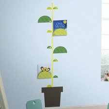One Décor Book Nook and One Décor Peel and Stick Metric Growth Chart Wall Decal