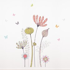 <strong>Room Mates</strong> Mia & Co Flowers and Butterflies Wall Decal