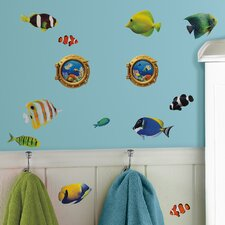 26 Piece Peel & Stick Wall Decals/Wall Stickers Fish Wall Decal Set