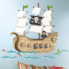 <strong>Room Mates</strong> Pirate Ship Giant Wall Decal