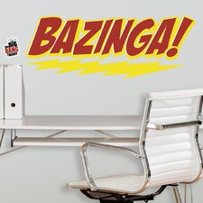 5 Piece Peel & Stick Giant Wall Decals/Wall Stickers Big Bang Theory Bazinga Wall Decal Set