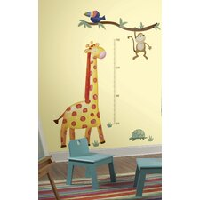 Studo Giraffe Peel and Stick Metric Growth Chart Wall Decal