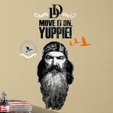 11 Piece A&E Television Duck Dynasty Phil Peel and Stick Giant Wall Decal Set