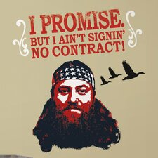 13 Piece A&E Television Duck Dynasty Willie Peel and Stick Giant Wall Decal Set