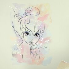 "Disney Fairies ""I Believe in Fairies"" Tink Watercolor Graphic Peel and Stick Giant Wall Decal"