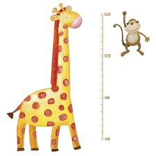 Studo Giraffe Peel and Stick Metric Growth Chart