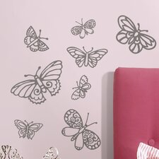 Glitter Butterflies Wall Decal