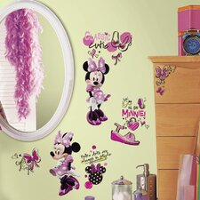 Mickey and Friends Minnie Fashionista Wall Decal