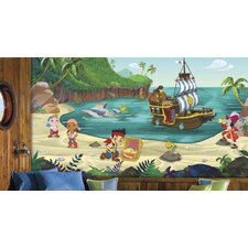 Jake and The Never Land Pirates Chair Rail Prepasted Wall Mural