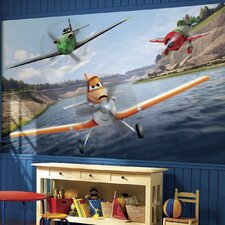 Disney Planes Chair Rail Prepasted Wall Mural