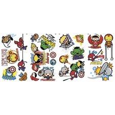 Popular Characters Marvel Superhero Kawaii Art Peel and Stick Wall Decal
