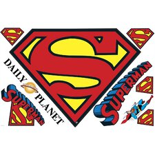 Popular Characters Superman Logo Dry Erase Peel and Stick Giant Wall Decal