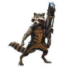 Popular Characters Guardians of the Galaxy Raccoon Peel and Stick Giant Wall Decal
