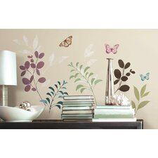 Botanical Butterfly Peel and Stick Wall Decal