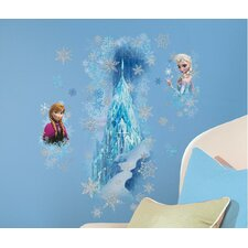 Popular Characters Frozen Ice Palace with Else and Anna Peel and Stick Giant Wall Decal