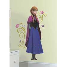 Frozen's Anna with Cape Giant Wall Decal Set