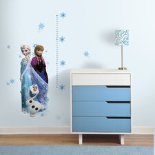 Popular Characters Frozen Elsa, Anna and Olaf Peel and Stick Giant Growth Chart