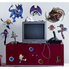 Bakugan Battle Brawlers Peel and Stick Wall Sticker