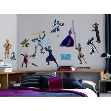 28-Piece The Clone Wars Peel and Stick Wall Decal
