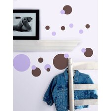 Just Dots Peel and Stick Wall Sticker in Pink and Brown