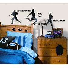 Sports Silhouettes Peel and Stick Wall Sticker