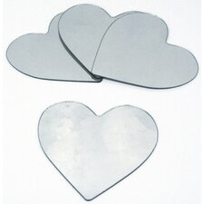 4 Piece Heart Small Peel and Stick Mirror Set (Set of 4)
