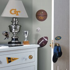 Georgia Tech Jackets Peel and Stick Wall Decal in Yellow