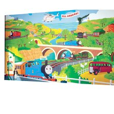 Surestrip Thomas the Train Chair Rail Prepasted Wall Mural
