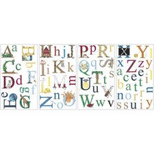Alphabet Peel and Stick Wall Sticker