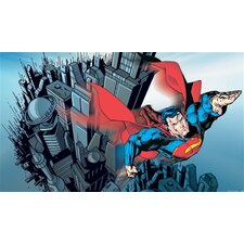 Surestrip Superman Chair Rail Prepasted Wall Mural