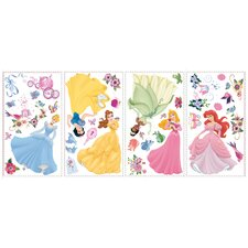 79-Piece Licensed Designs Disney Princess Peel and Stick Wall Decal