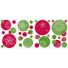 Seasonal Festive Dots Peel and Stick Wall Decal