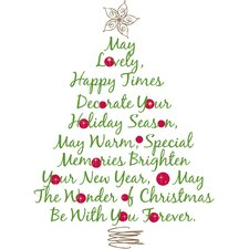 Seasonal Christmas Tree Quote Giant Wall Decal