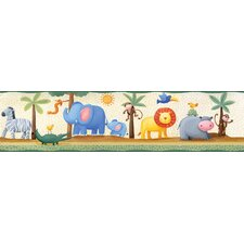 <strong>Room Mates</strong> Studio Designs Jungle Adventure Peel and Stick Wallpaper Border