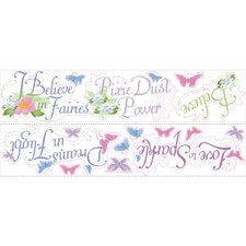 Licensed Designs Disney Fairies Phrases Peel and Stick Wall Decal Us Only