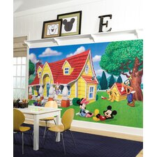 XL Murals Mickey and Friends Chair Rail Wallpaper