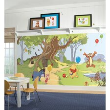XL Murals Pooh and Friends Chair Rail Wall Decal