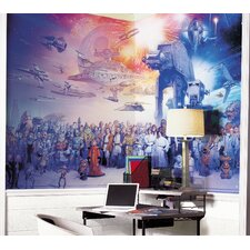 <strong>Room Mates</strong> Extra Large Murals Star Wars Full Cast Chair Rail Wall Decal