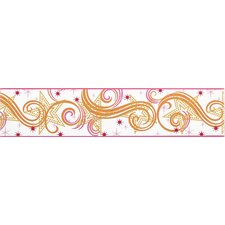 Star Glitter Border in White / Pink / Orange
