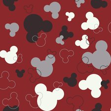<strong>Room Mates</strong> Mickey Mouse Heads Wallpaper