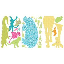 Animal Silhouettes Giant Peel and Stick Wall Sticker