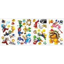 <strong>Room Mates</strong> Super Mario Bros. Wii Wall Decal