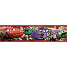 <strong>Room Mates</strong> Cars Piston Cup Racing Peel and Stick Wallpaper Border