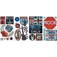Boys Rock-n-Roll Wall Decal