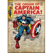 Captain America Peel and Stick Comic Book Cover Wall Decal